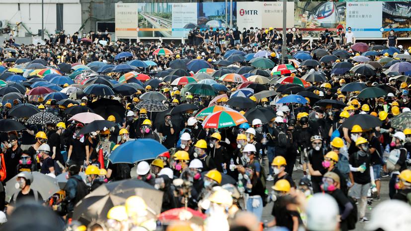 Полиция Гонконга задержала 82 человека в ходе протестов
