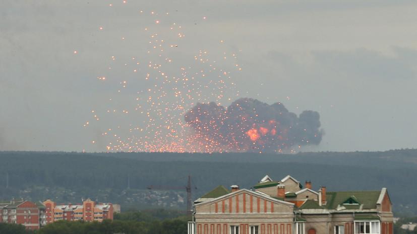 Губернатор назвал минимальными последствия взрывов на складе под Ачинском