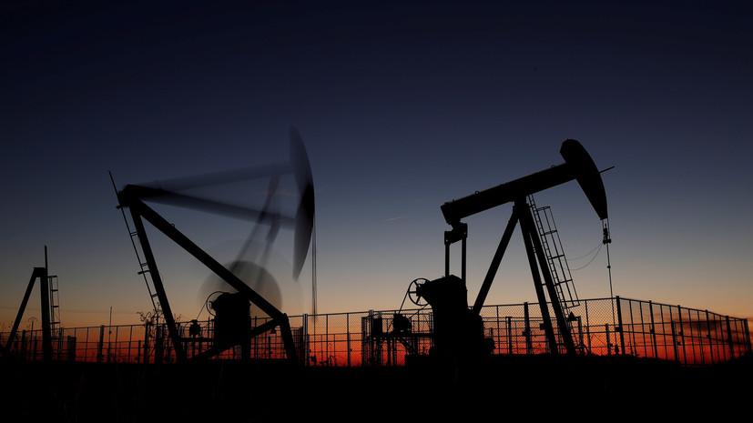 Цена на нефть Brent в ходе торгов упала ниже $57