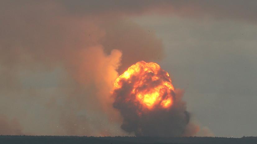 Пожар на военном складе под Ачинском произошёл из-за попадания молнии