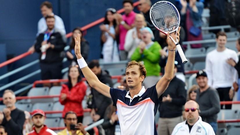 В шаге от трофея: Медведев обыграл Хачанова в первом в истории российском полуфинале турнира серии «Мастерс»