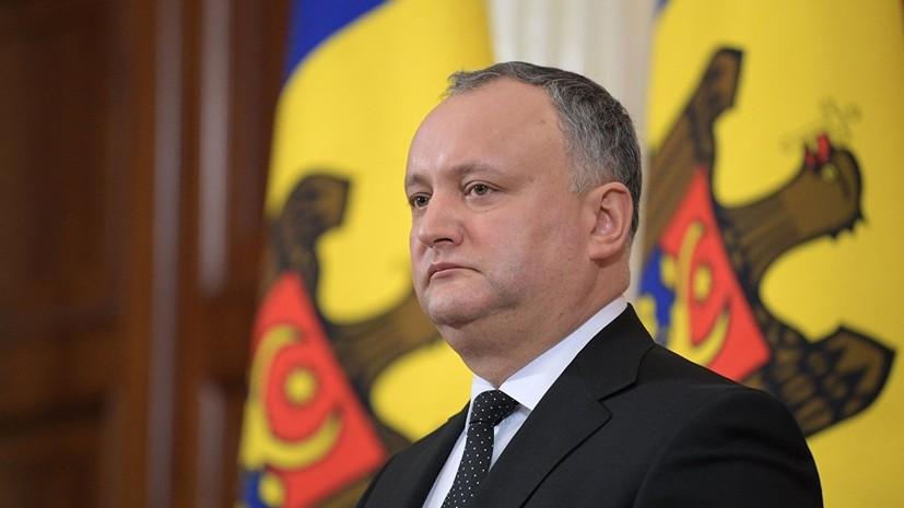 Додон рассказал о намерении Молдавии восстановить отношения с Россией