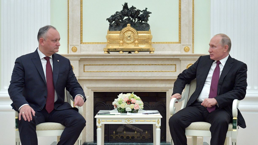 Додон заявил о подготовке встречи с Путиным до 10 сентября