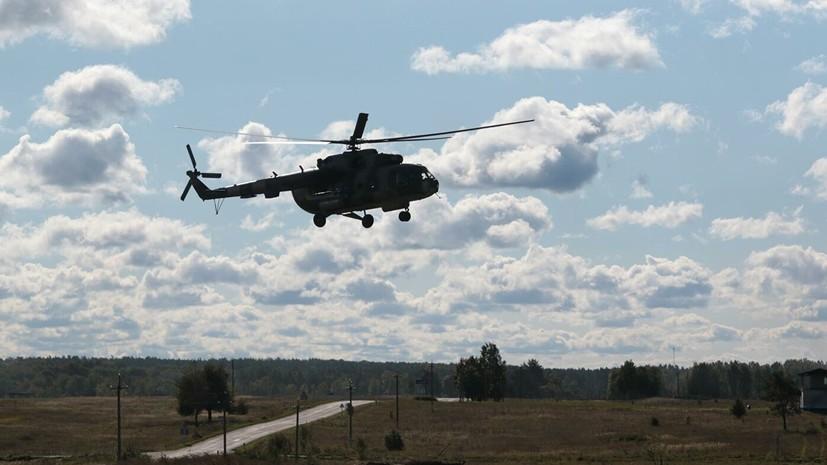 Во Львовской области во время взлёта на аэродроме упал вертолёт