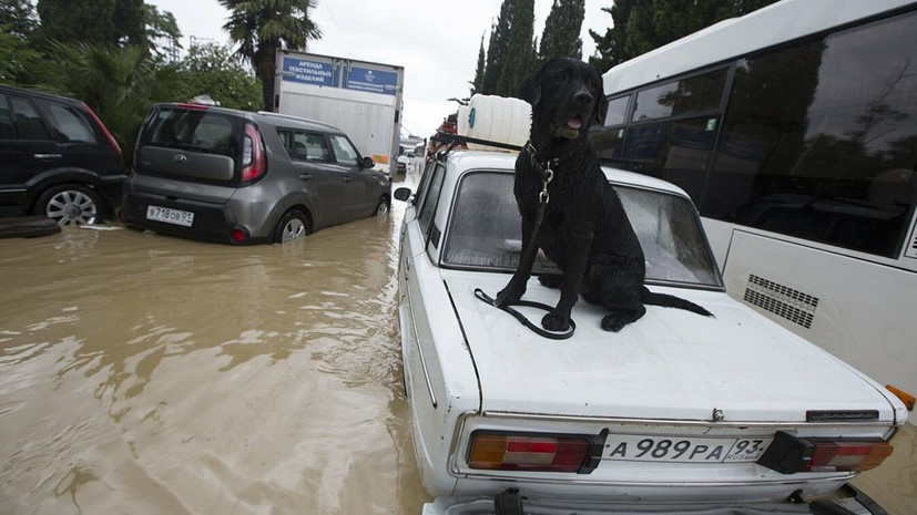 Уровень воды в четырёх реках Сочи поднялся до опасных отметок