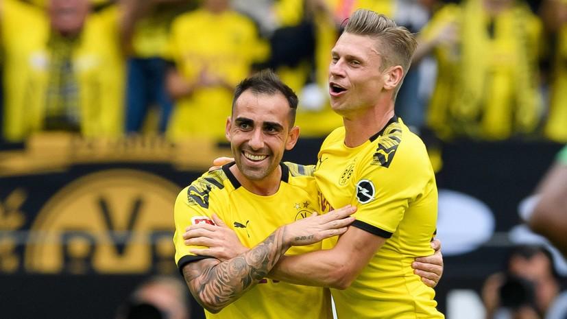 Дубль Алькасера помог «Боруссии» разгромить «Аугсбург» в матче чемпионата Германии по футболу