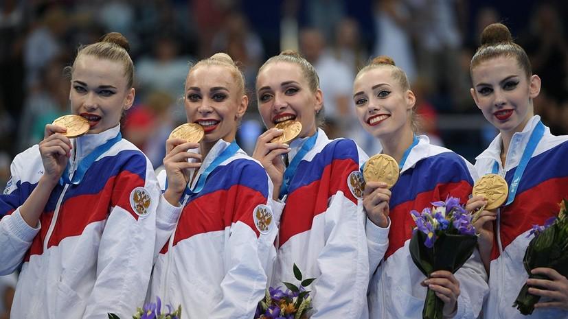 Российские гимнастки выиграли этап Кубка вызова в Минске в групповом многоборье