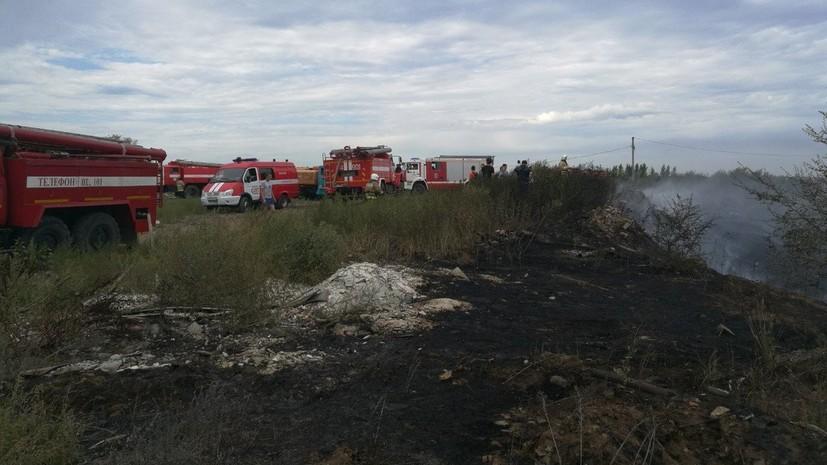 Пожар на мазутном озере в Самаре ликвидирован