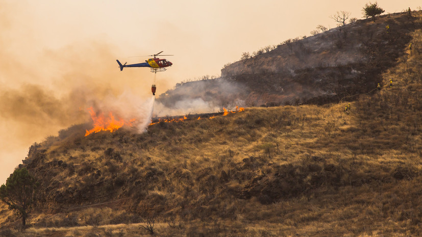 На Канарах эвакуированы жители 40 поселений из-за природных пожаров