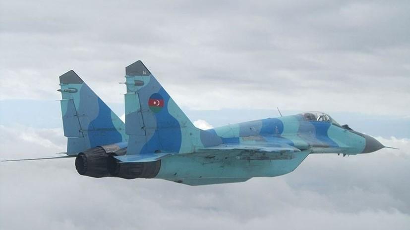 Найдено тело пилота упавшего в Каспийское море МиГ-29 ВВС Азербайджана