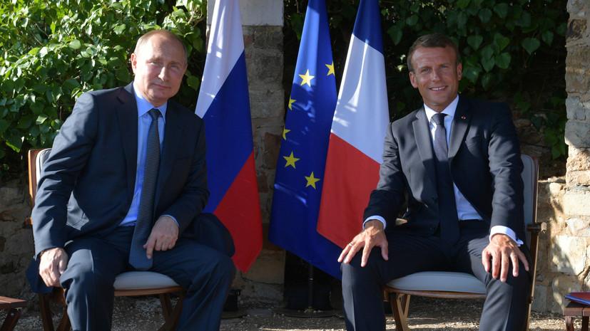 В Кремле назвали конструктивными переговоры Путина и Макрона