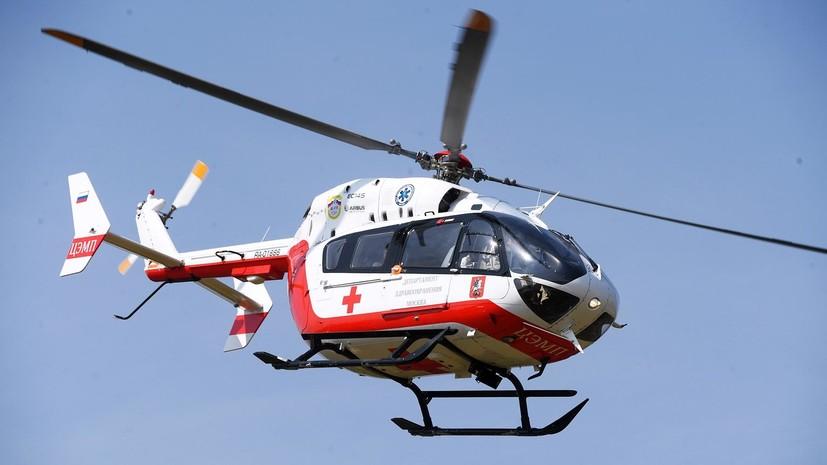 Найденную в лесу девочку вертолётом доставили в Нижний Новгород