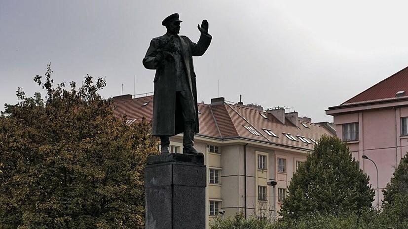 Неизвестные в Праге осквернили памятник маршалу Коневу
