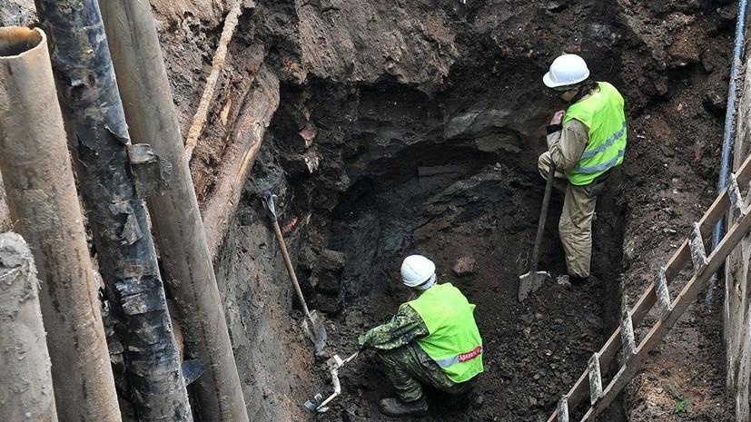 Во время раскопок в центре Москвы найдены артефакты XVIII века