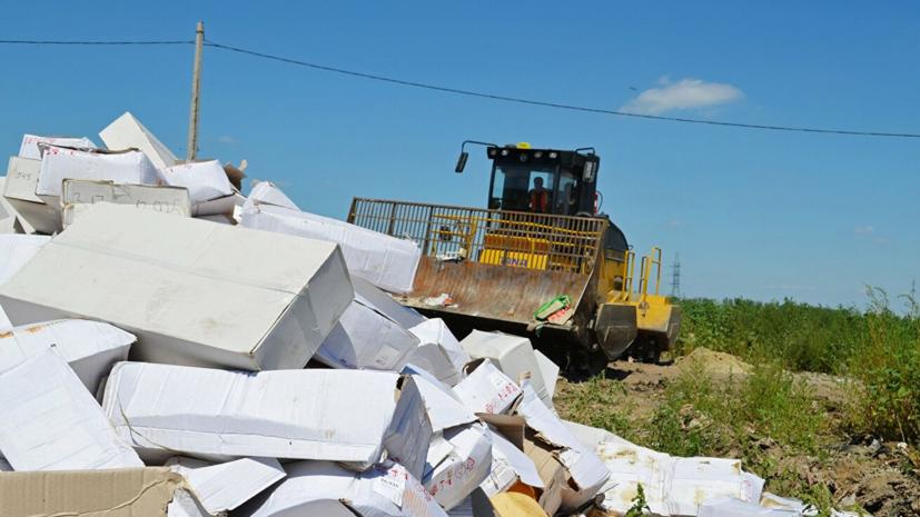 Правительство России продлило режим уничтожения санкционных товаров