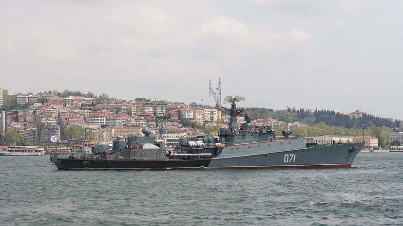 Малые противолодочные корабли ЧФ отработали поиск и уничтожение подлодки условного противника