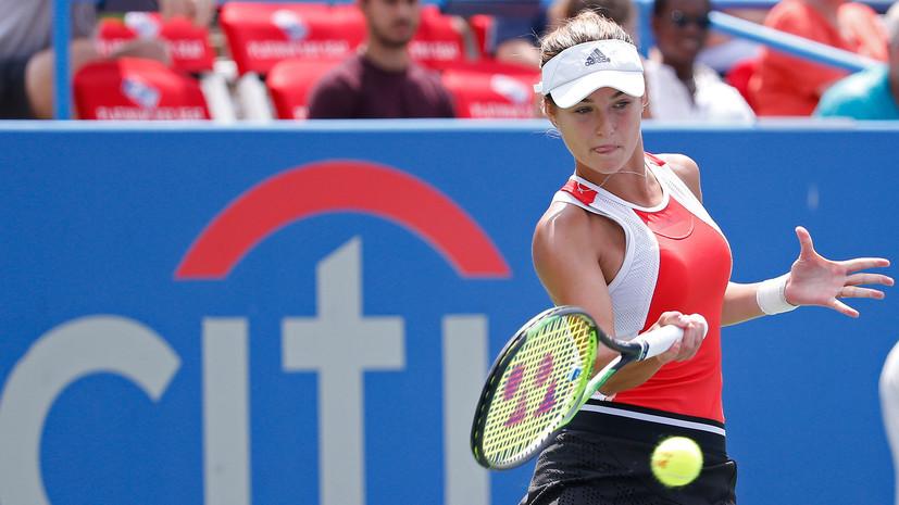 Калинская обыграла Мухаммад и вышла в основную сетку US Open
