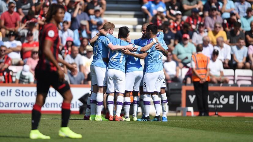 Дубль Агуэро помог «Манчестер Сити» обыграть «Борнмут» в матче АПЛ