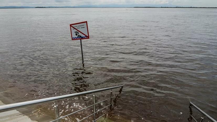 В Хабаровске из-за подъёма уровня воды в Амуре закрыли набережную