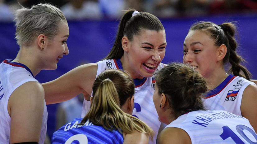 Российские волейболистки обыграли Словакию на чемпионате Европы