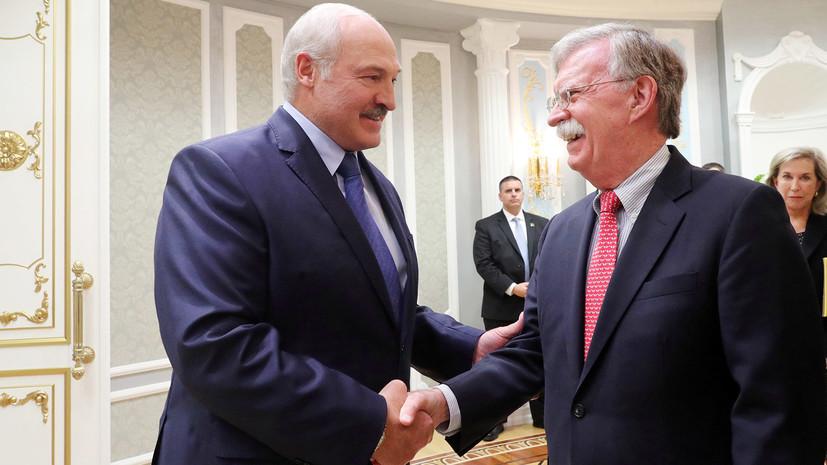 Болтон обсудил в Минске конфликт в Донбассе