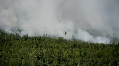 Лесные пожары в Богучанском районе Красноярского края