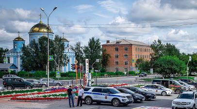 Сотрудники правоохранительных органов в Ачинске