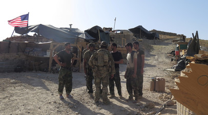 Солдаты армий США и Афганистана