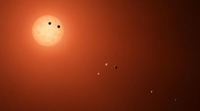 Экзопланеты земного типа в системе TRAPPIST-1