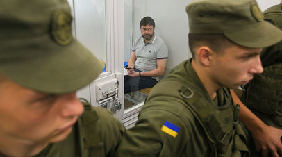 Руководитель портала «РИА Новости Украина» Кирилл Вышинский на заседании Киевского апелляционного суда