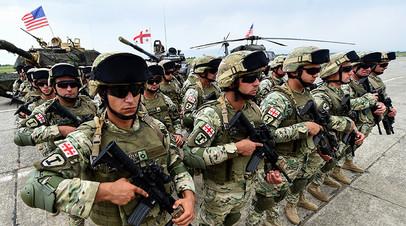 Грузинские военные принимают участие в международных учениях Noble Partner 2018 в центре подготовки в Вазиани