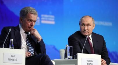 Двусторонние отношения и европейская повестка: какие темы обсудят Путин и президент Финляндии на встрече в Хельсинки