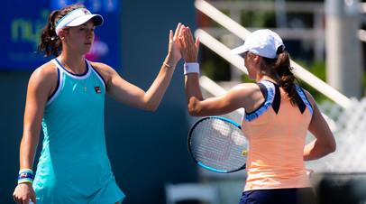 Россиянка Гаспарян и румынка Никулеску проиграли в финале теннисного турнира в Нью-Йорке