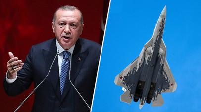 «Не впустую приехали»: Эрдоган допустил покупку Турцией Су-35 и Су-57 вместо американских F-35