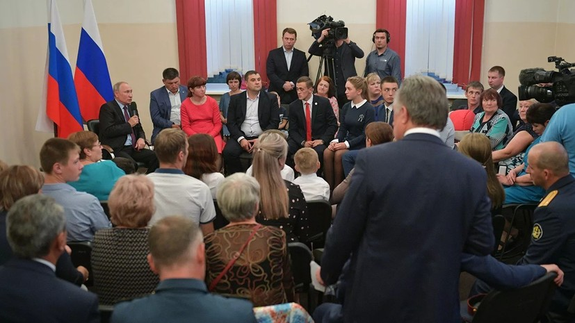 Путин пообещал добиться реализации прав пострадавших от паводка