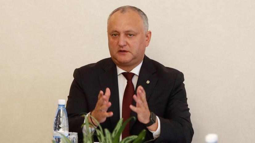 Додон проведёт переговоры с представителями ЕС и НАТО в Брюсселе