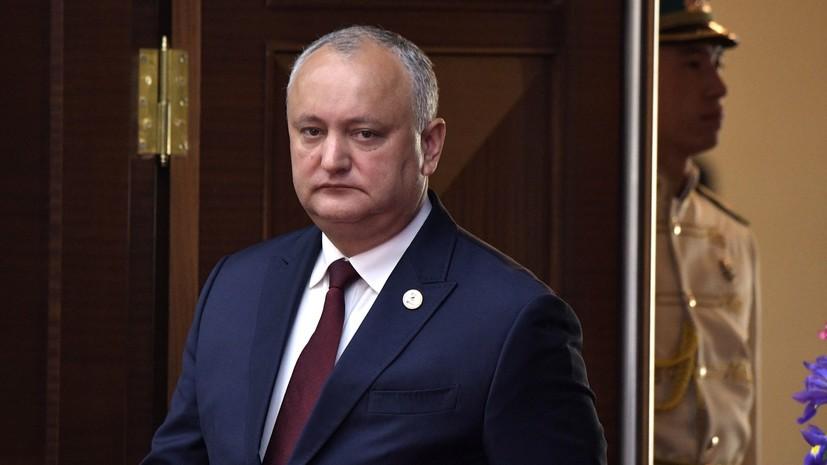 Додон намерен обсудить с Путиным вопрос поставок газа в Молдавию
