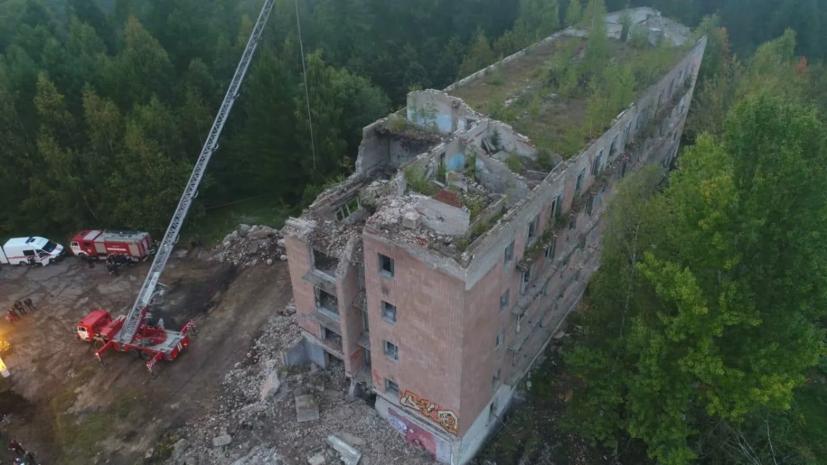 На месте обрушения здания в Подмосковье найдено тело