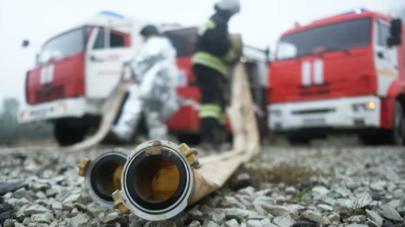 В Новой Москве горит мусорный полигон