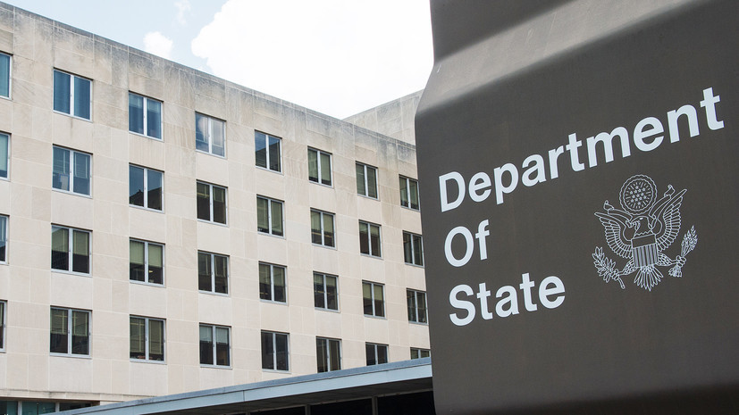 The State Department commented on the exchange between
