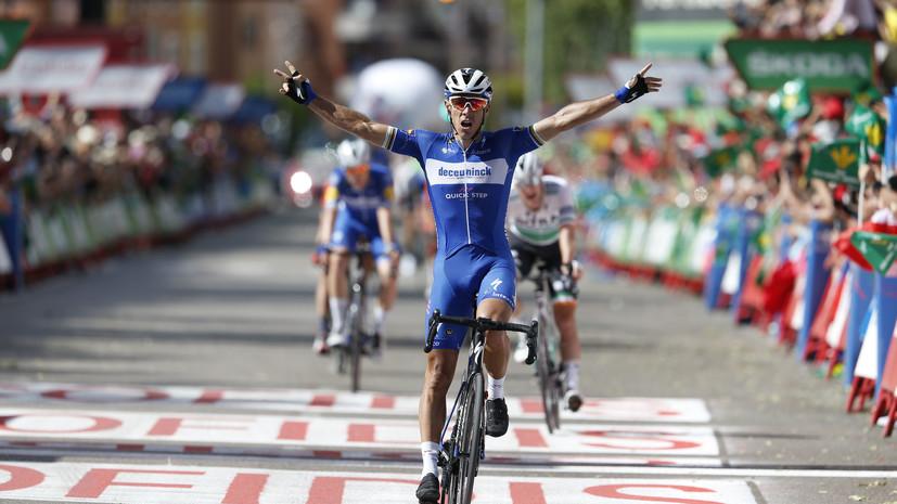 Бельгийский велогонщик Жильбер победил на 17-м этапе «Вуэльты»