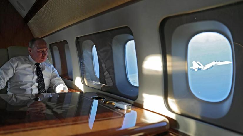 Путин прилетел в Дагестан