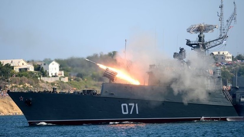 Малые противолодочные корабли ЧФ уничтожили подлодку условного противника