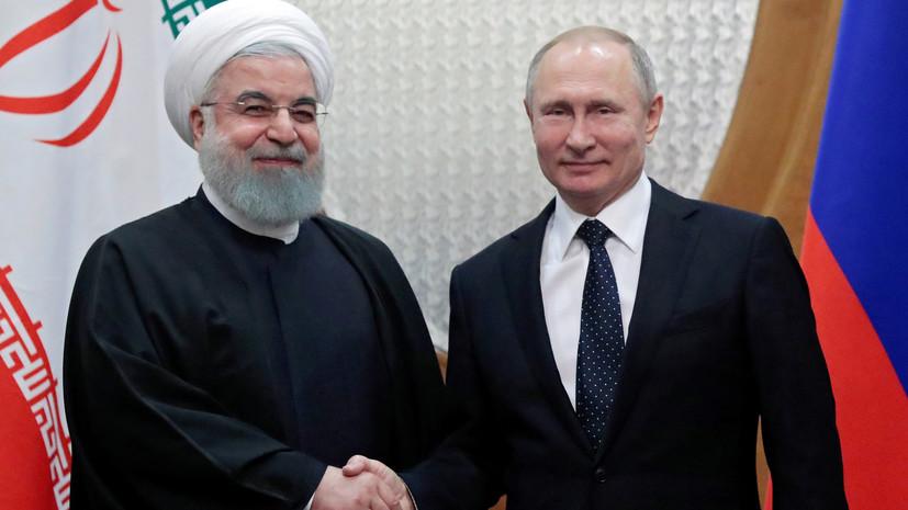 В Кремле назвали темы предстоящей встречи Путина и Рухани