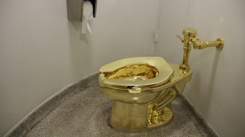 В Британии украли золотой унитаз из дворца, где родился Черчилль