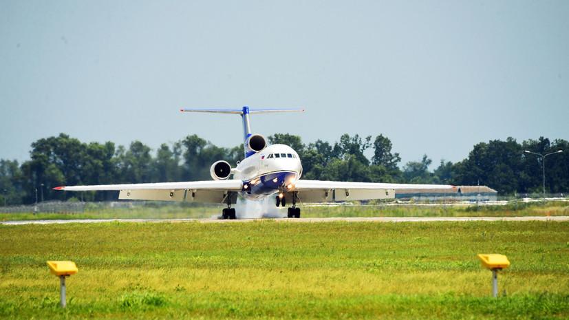 Як-42 сел в аэропорту Красноярска из-за технической неисправности