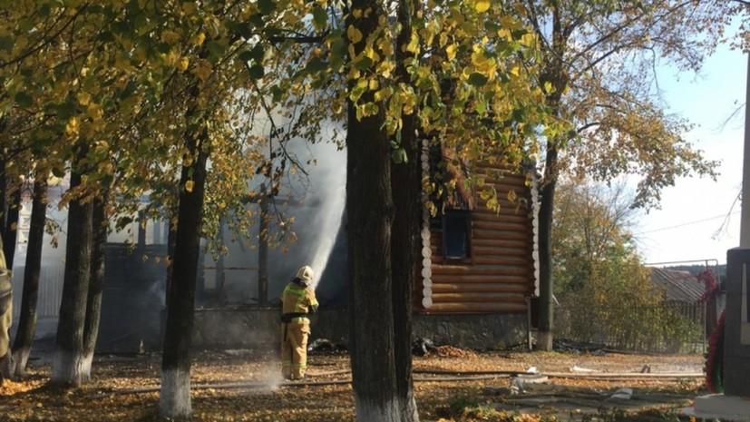В посёлке в Свердловской области сгорел храм
