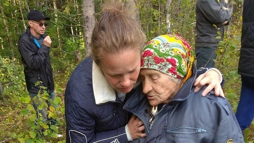 В Ленобласти нашли 88-летнюю женщину, заблудившуюся в лесу