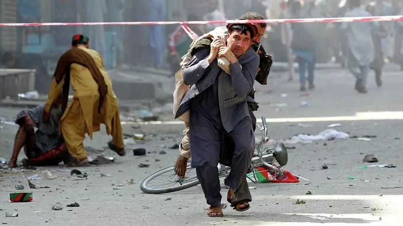 При взрыве на месте выступления главы Афганистана погибли 24 человека