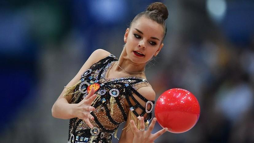 Гимнастка Дина Аверина выиграла золото ЧМ-2019 в упражнениях с мячом